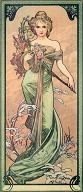 Pohled A. Mucha - Spring