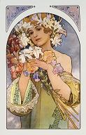 Pohled A. Mucha - Flower